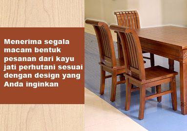 Menerima segala macam bentuk pesanan mebel furniture jati