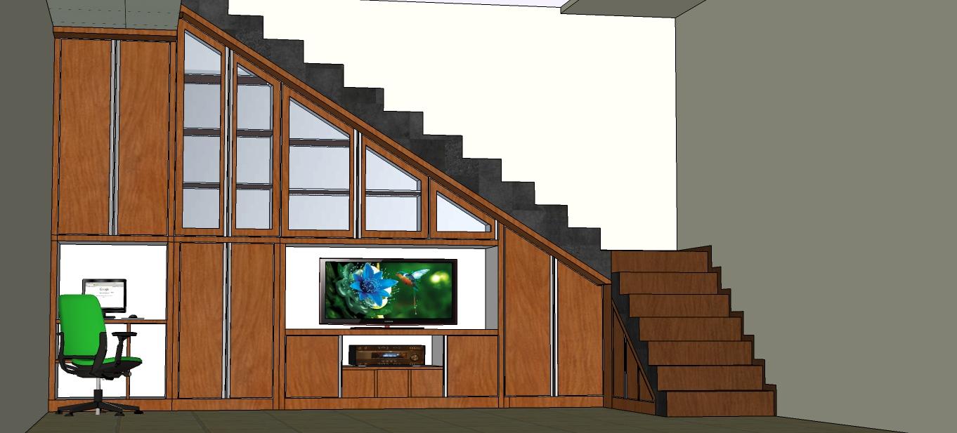 Lemari bawah tangga jati pusat mebel itc bds tangerang for Pemasangan kitchen set